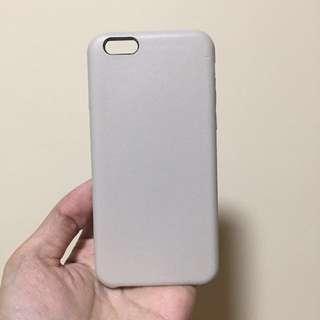 深藍/米色皮革Iphone 6(s)手機殼x2