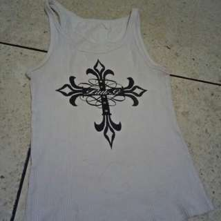 Crossed Tanktop White