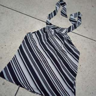 STRIPES HALTER NECK