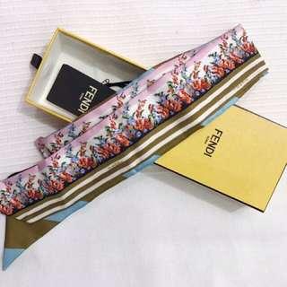 🎀Fendi wrappy silk scarf for bags 🎀