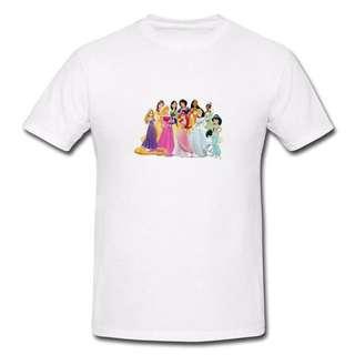 Disney Princess T-shirt D3-Men/Women
