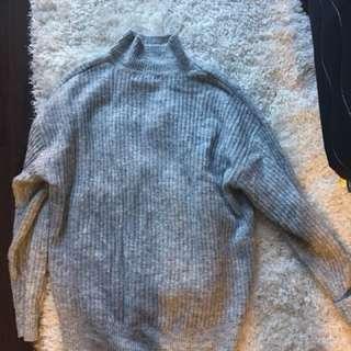 Chunky grey oversized sweater