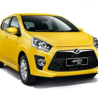 Sewa kereta Axia RM70