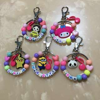 Customised cute keychain with double charm