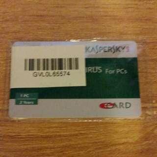 vipkaspersky antivirus subscription for two years...