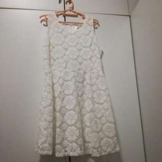 [BN] Zalora Cute Fluffy White Dress