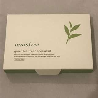 Innisfree green tea fresh special kit for oily skin