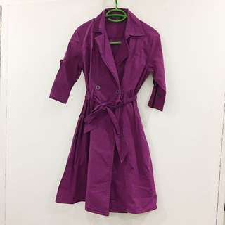 Formal Trench Coat Purple