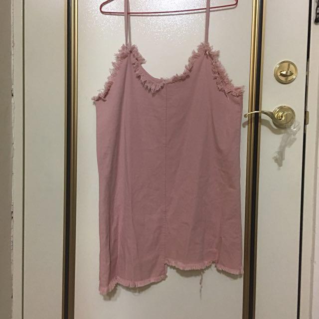 粉紅牛仔裙