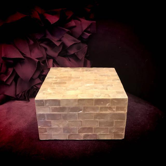貝殼置物盒/正方型/珍珠白❤️
