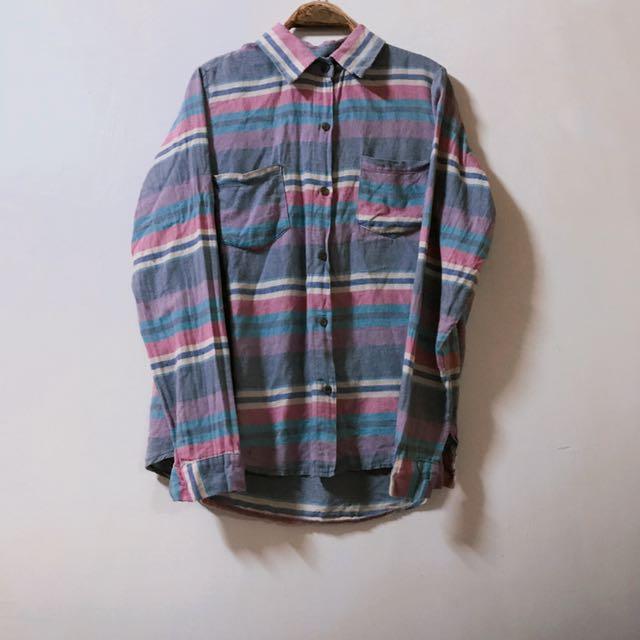 條紋寬鬆襯衫