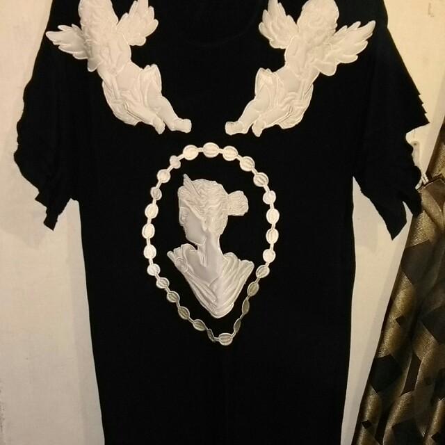 巴洛克圖案 黑色洋裝