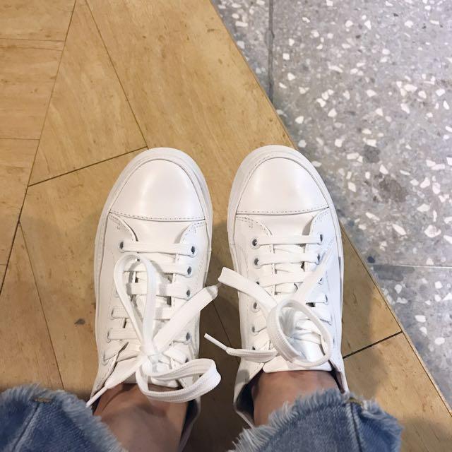 白色休閒鞋 白鞋 真皮白鞋