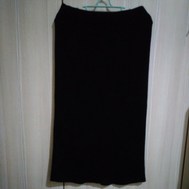 針織 後開叉 鬆緊  長裙 窄裙 #交換最划算