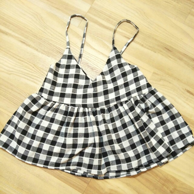 ❤ Checkered Crop Top