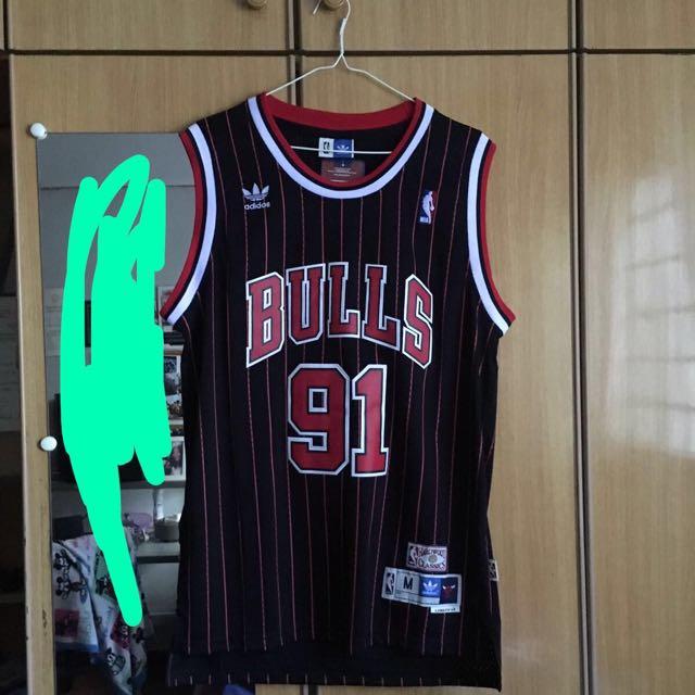 lowest price 37a3a abc49 Adidas Bulls Rodman Jersey(Basketball ), Men's Fashion ...