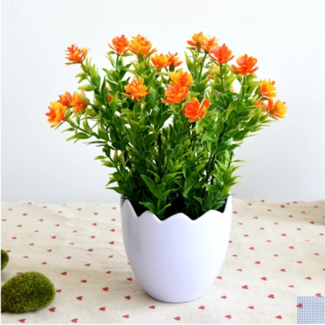 Artificial Small Flower Pots Furniture Home Decor On Carousell