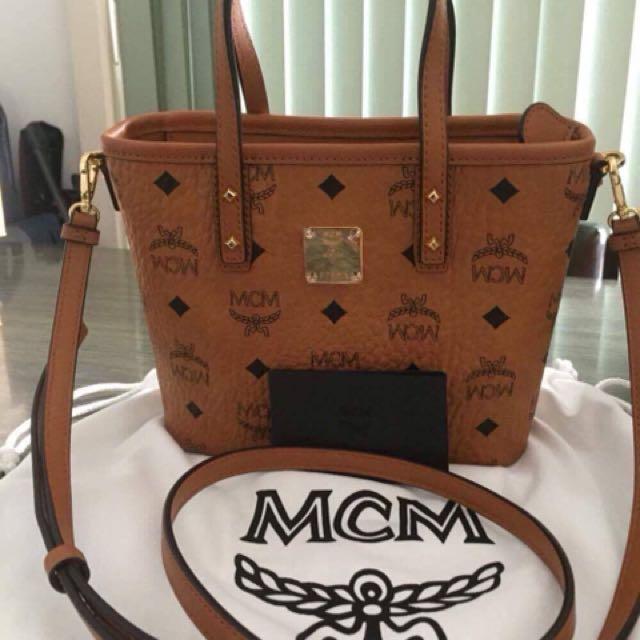 Authentic as new MCM Anya Top Zip shopper bag