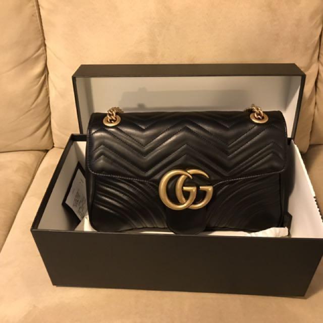 Authentic Gucci Marmont Matelasse Shoulder bag