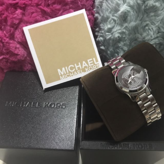 Authentic Michael Khors Ladies Watch silver