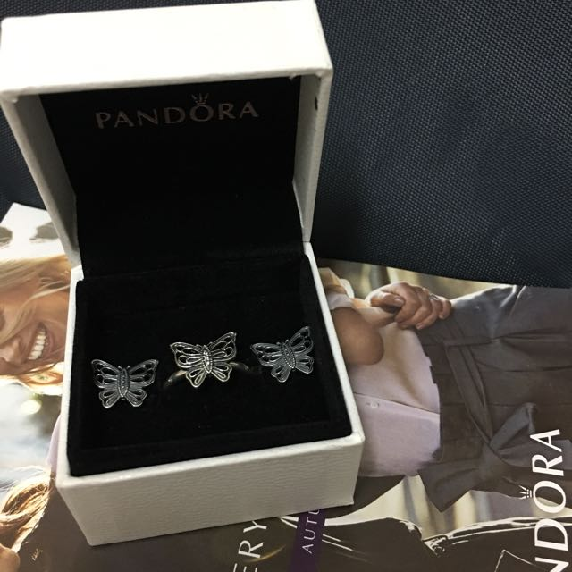 Authentic Pandora Butterfly Set