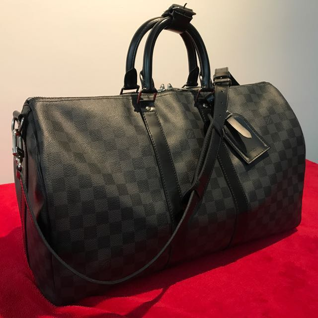 43dbb878e71 Authentic Preloved Louis Vuitton Keepall 45 in Damier Graphite ...