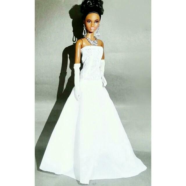 🆕 Barbie White Evening Gown {Handmade}, Design & Craft, Handmade ...