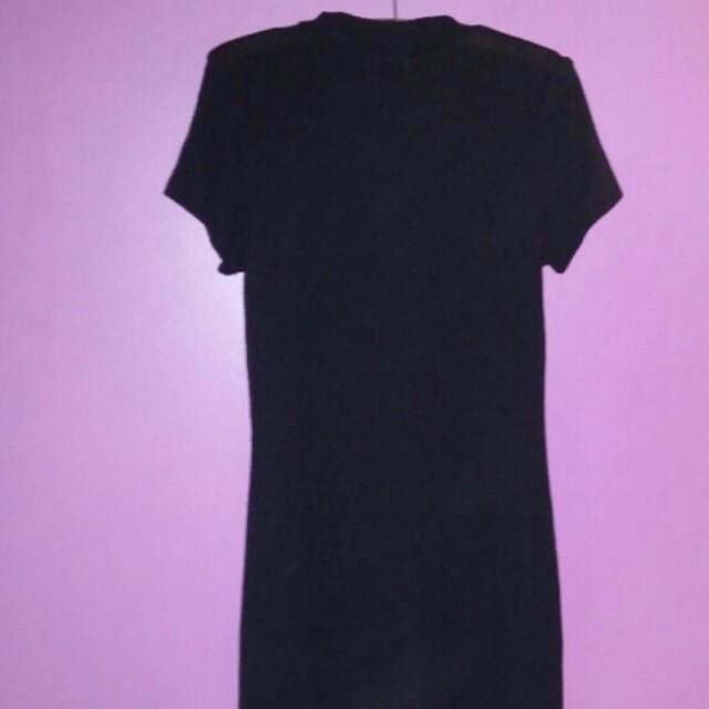 Black Cut Out Dress L