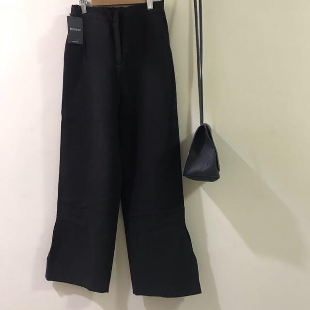 全新✨BOGA自訂款褲管開衩寬褲