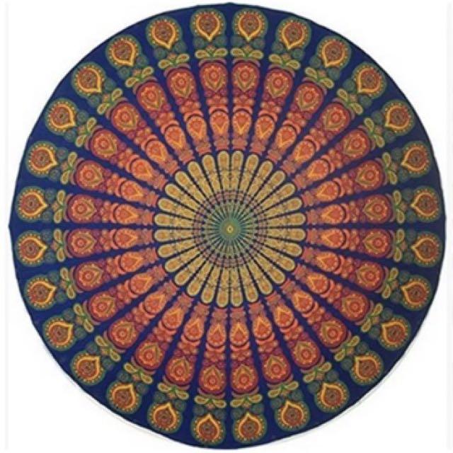 Boho Mandala Round throw mat picnic
