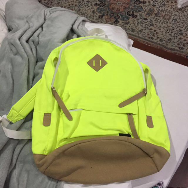 BRAND NEW Neon Green Backpack