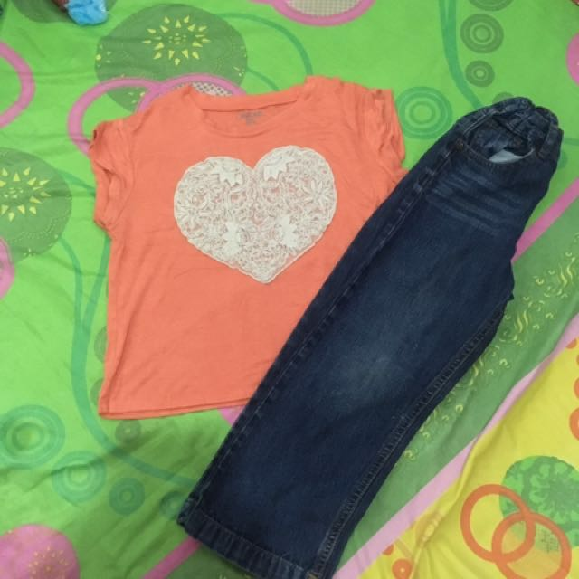 BUNDLE #2 Girl's top and jeans
