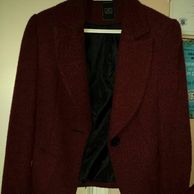Burgundy blazer/Jacket