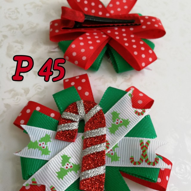 Candy cane hairbow