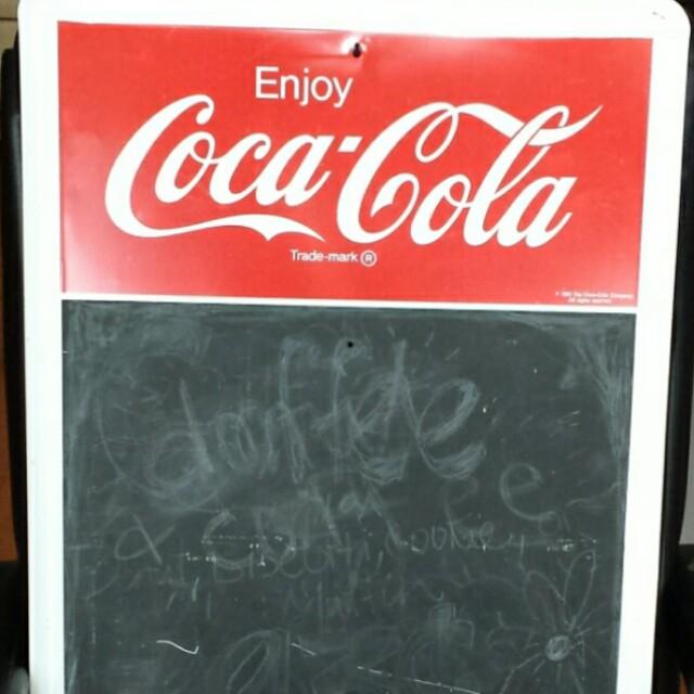 Coca-Cola tin message board