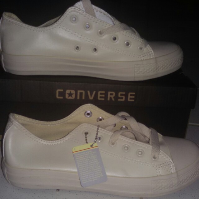 Converse Nude Leather Shoes