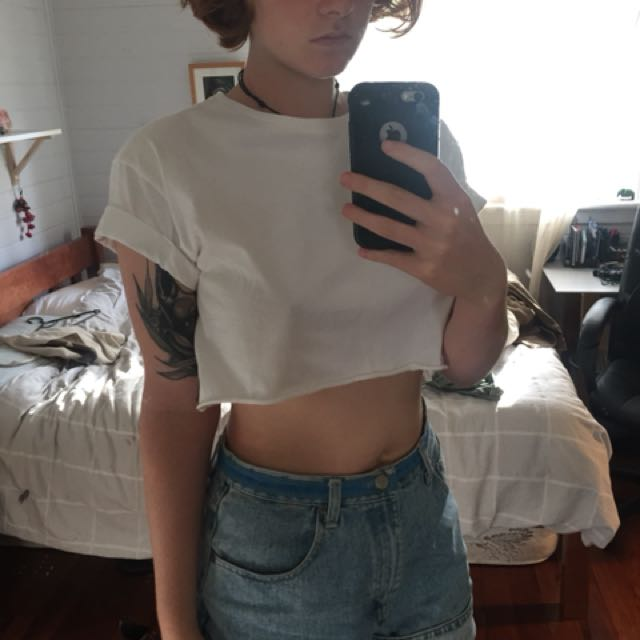 Cropped topshop white