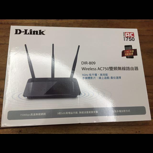 D-Link DIR-809 Wireless AC750 雙頻無線路由器(含運,店到店)