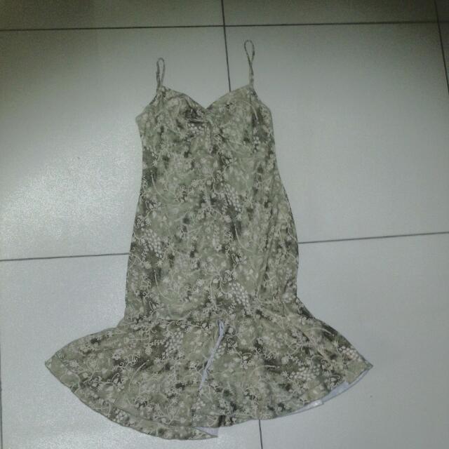 Emanuelle Spaghetti Flare Knee Length Dress