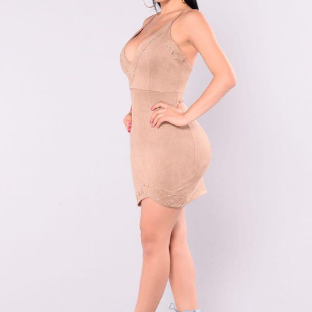 Fashionova Nude Lace Dress