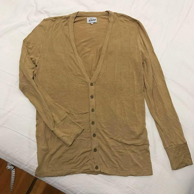 [final price] Galoop 卡其色嫘縈針織衫
