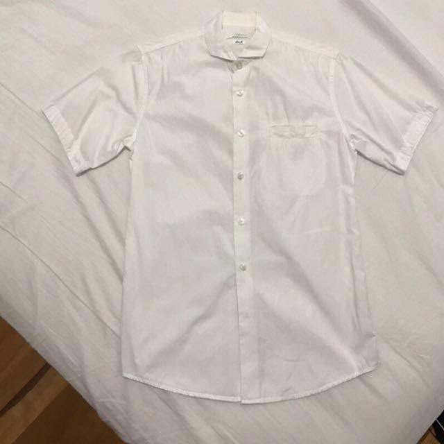 [final price] Topman 白色短袖襯衫