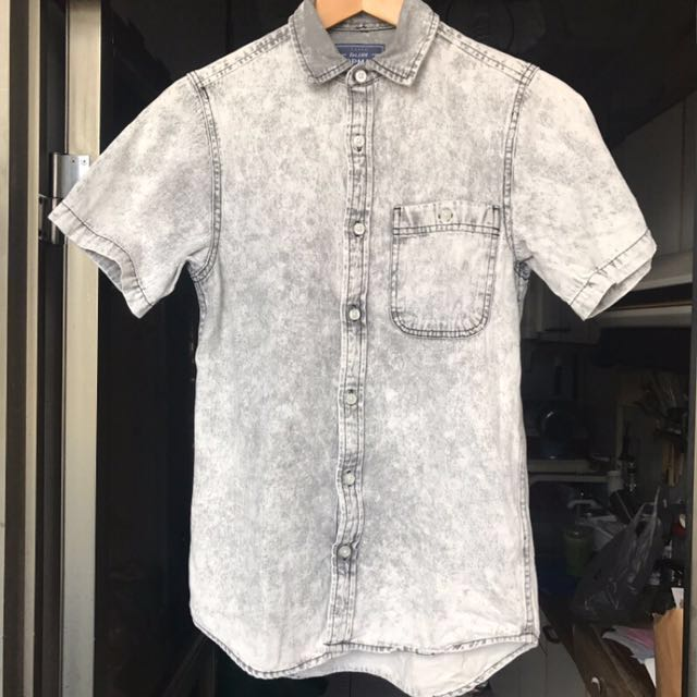 [final price] Topman 淺灰單寧襯衫
