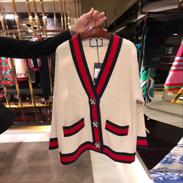 43c4fc448bd 🔥Gucci Inspired Cardigan Sweater + Suit Skirt Rabbit Velvet Yarn ...