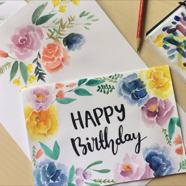 Hand painted cards for any occasion!