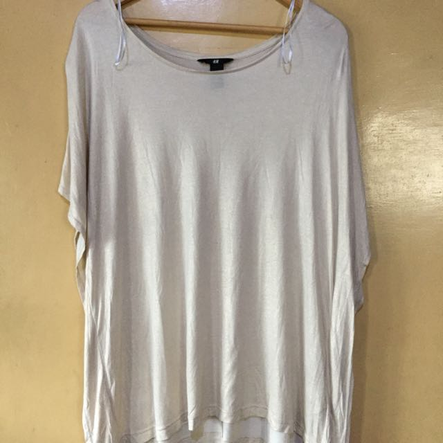 H&M LOOSE BATWING SHIMMER TOP
