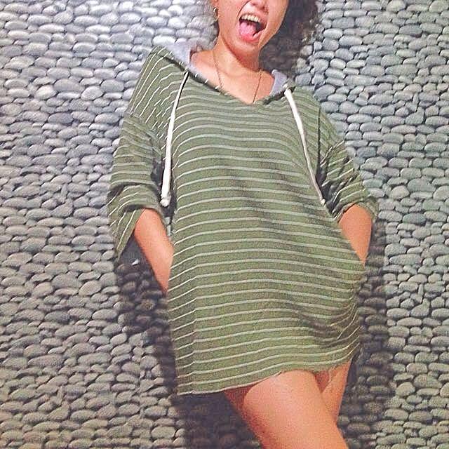 Hoodie stripes Sweater Dress
