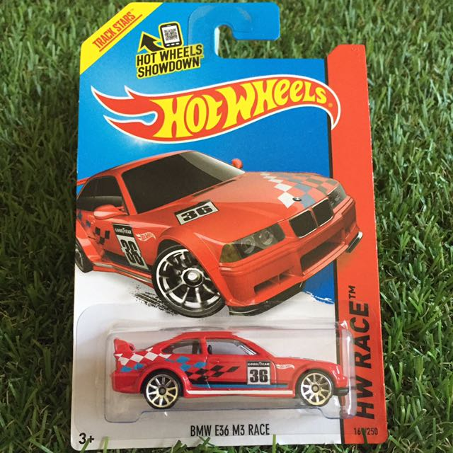Hot wheels BMW E36 M3 Race, Toys & Games, Bricks & Figurines