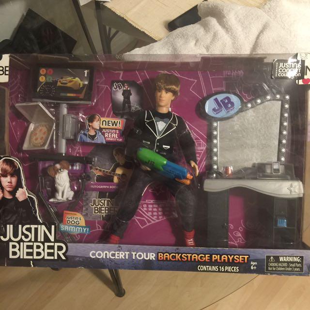 Justin Bieber concert tour doll collectors