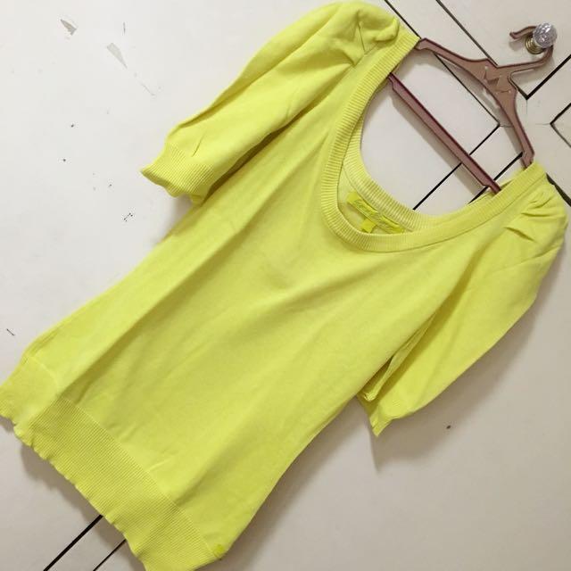Kamiseta Yellow Knit Top